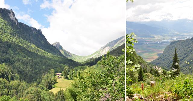 En route pour le lac Tanay en Valais