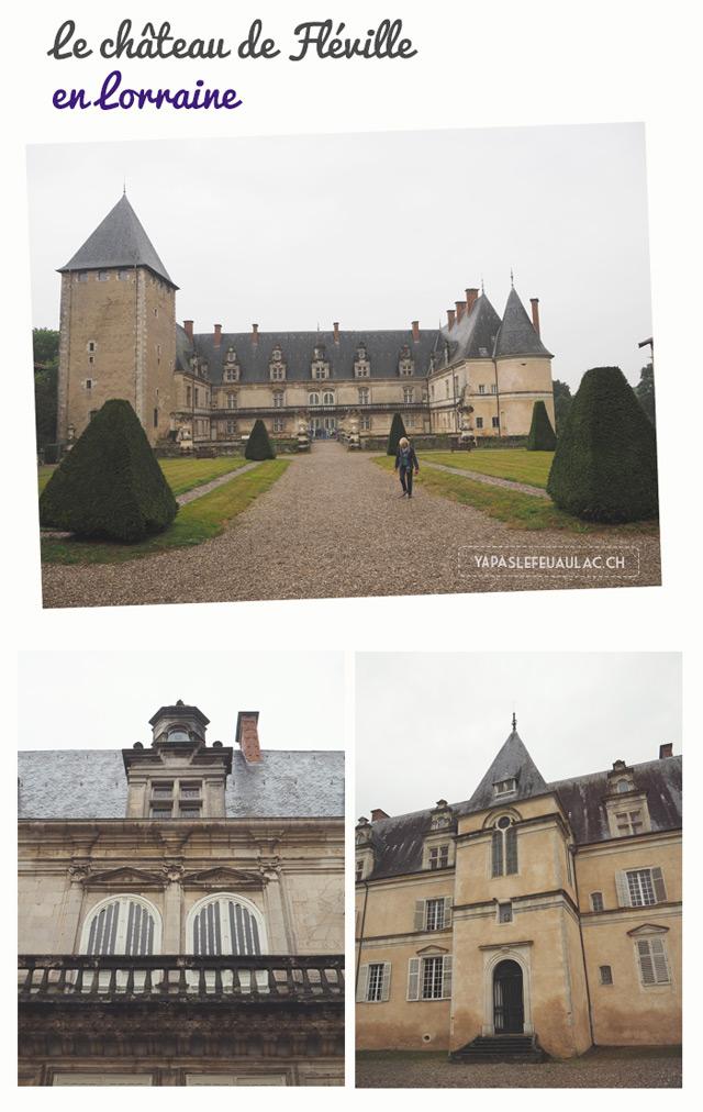 Chateau de Fleville en Lorraine sur le blog de voyage en France Yapaslefeuaulac