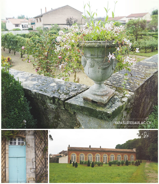 Parc du chateau de Fleville en Lorraine - sur le blog de voyage en France Yapaslefeuaulac