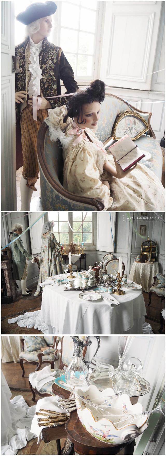 Salle château de Fléville salon à dîner renaissance - Visite en Lorraine près de Nancy - Blog voyage en France Yapaslefeuaulac