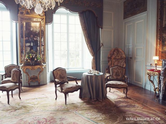 Salle du Chateau de Fleville - escapade en France blog de voyage