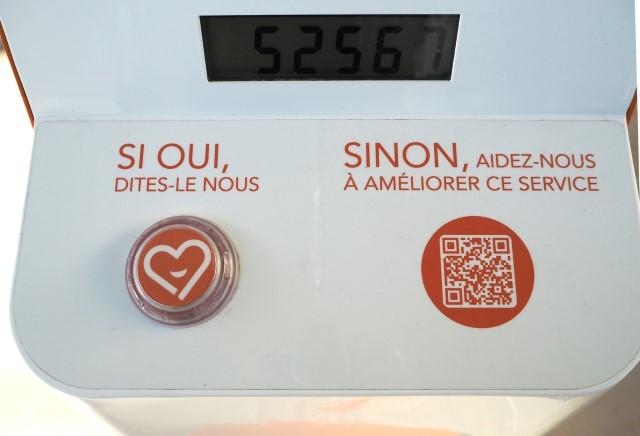 Le sondage selon la SNCF: Un bouton pour dire que tu n'es pas content, et ... une démarche compliquée pour dire que tu es mécontent!