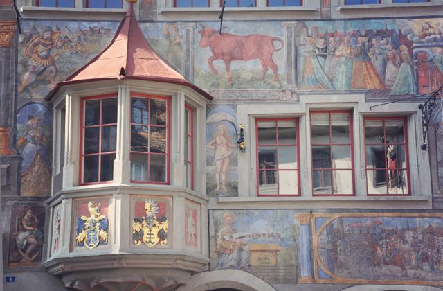 Façade peinte à Stein am Rhein - Escapade en Suisse - Blog voyage