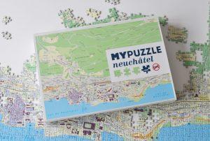 Mon puzzle de ma ville suisse: Neuchâtel! Par l'éditeur de jeux Helvetiq