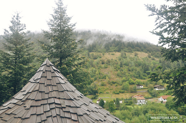La Bresse vue depuis la Clairière aux Cabanes de Bol d'Air