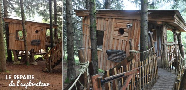 Le Repaire de l'Explorateur, hébergement insolite à louer dans les Vosges. Mon avis sur ces chalets perchés!