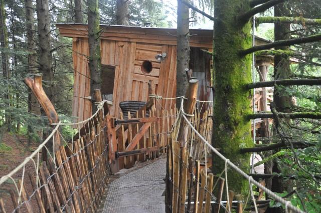 Bol d'Air à la Bresse: des cabanes insolites