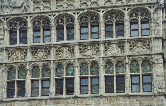 Facade a Gand en Belgique - Ghent in Belgium