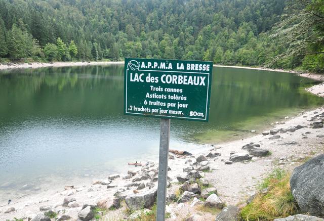 Panneau peche au lac des corbeaux