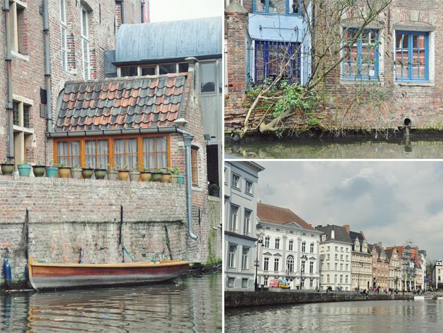 Vues de Gand - Ghent en Belgique depuis les canaux - Blog voyage Yapaslefeuaulac