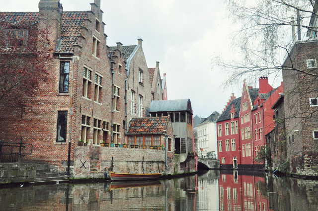 Les canaux de Gand venise du nord en Belgique