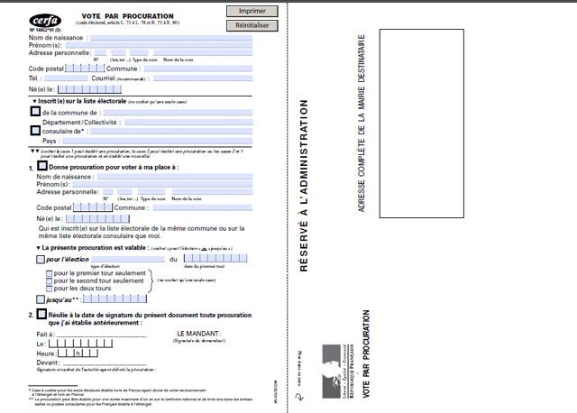 administration demarche vote par procuration en France