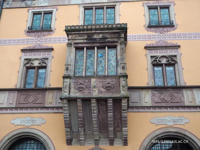 Une belle façade à Obernai en Alsace