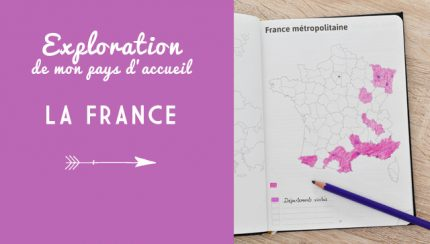 Carte de la France coloriée pour indiquer l'avancée de mon exploration de la France