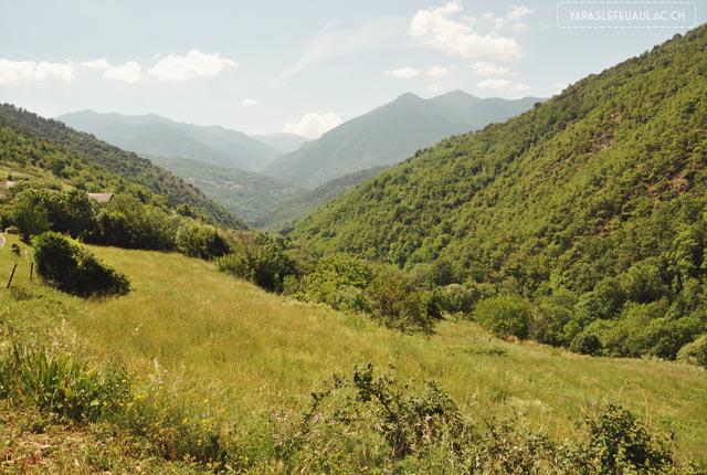 La vue dans les Pyrénées Orientales autour d'Evol!
