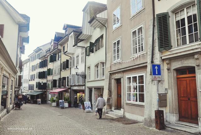 Dans les rues de Soleure - voyage en Suisse
