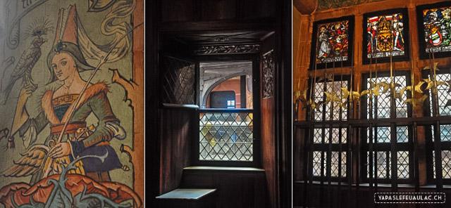 Reconstitution de château médiéval: le Haut Konigsbourg en Alsace