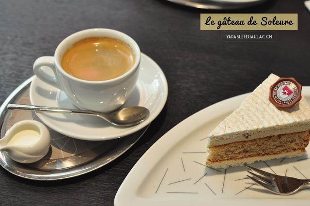 Le gâteau de Soleure (ou tourte de Soleure), une spécialité de la ville à déguster à La Suteria, qui a un grand tea-room dans la vieille-ville!