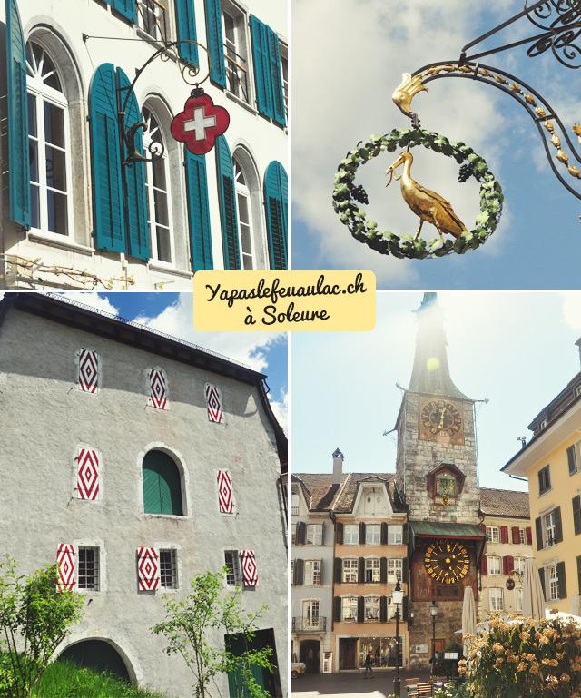 Patrimoine soleurois: enseignes, volets peints et zytglogge (tour à l'horloge)