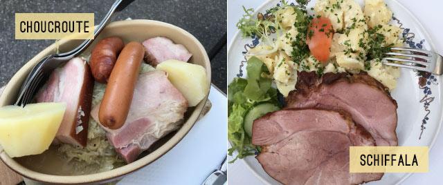 Spécialités alsaciennes: Schiffala et choucroute! Crédit Blog Yapaslefeuaulac.ch