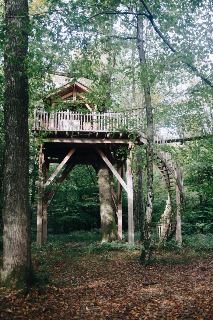 Hébergement insolite en Franche Comté: Les cabanes des Grands Reflets