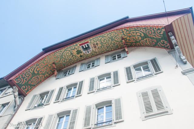 Curiosité à Aarau: levez les yeux si vous avez l'occasion de visiter cette ville suisse