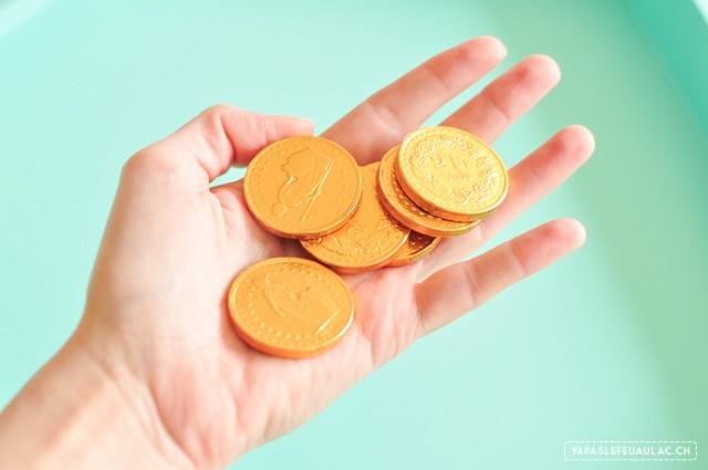 Le début de la fortune...et des francs suisses en chocolat.