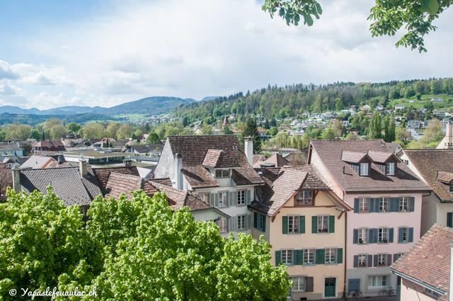 Vue sur la ville d'Aarau en Suisse
