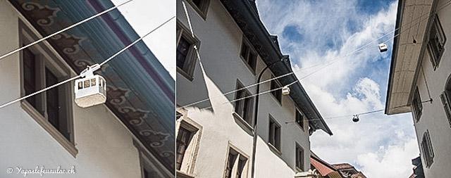 Des téléphériques dans la rue en Suisse alémanique! Crédit: Blog Yapaslefeuaulac!