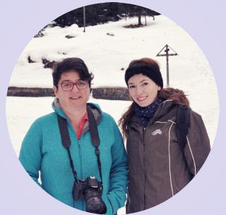 Patricia et moi, prêtes pour cette journée de découverte en Valais