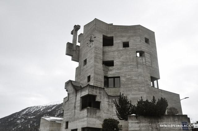 L'église en béton d'Hérémence, architecture avant-gardiste en Suisse