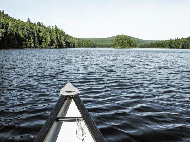 Idée de rando canot en Mauricie pour aller voir les chutes Waber - Escapade au Québec sur le blog voyage Yapaslefeuaulac