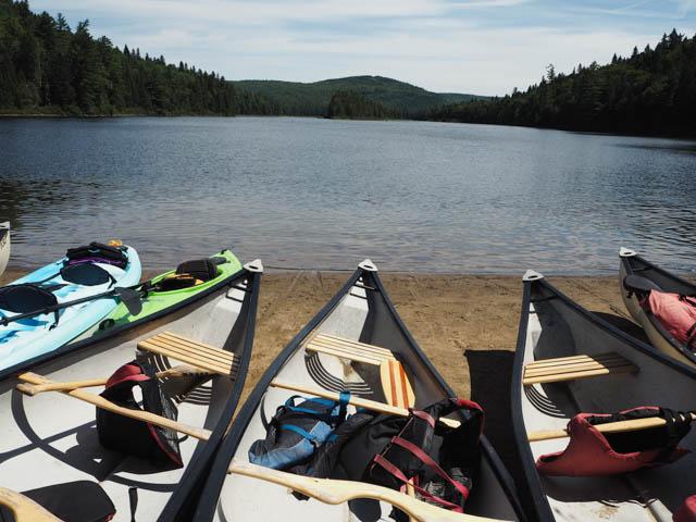 En canoë dans le parc de la Mauricie - Voyage au Québec sur le blog Yapaslefeuaulac