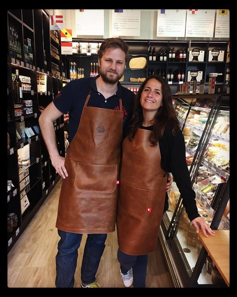 Alexandra Gandoulf et Guillaume Schleipen de l'épicerie Helvetimart à Lausanne