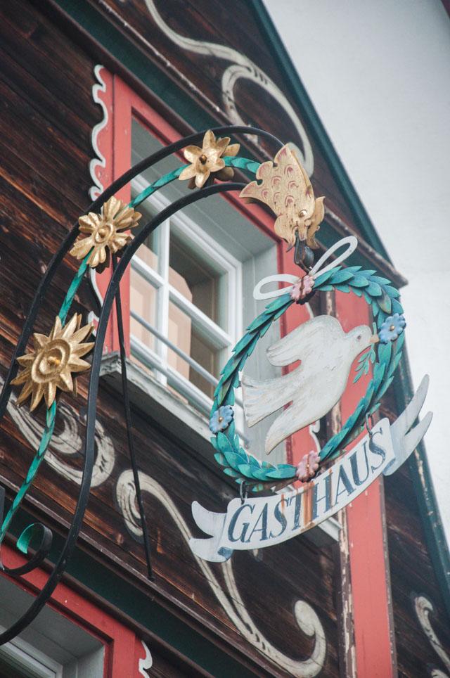 les jolies enseignes d'Appenzell - Visite de la ville d'Appenzell - Voyage en Suisse sur le blog
