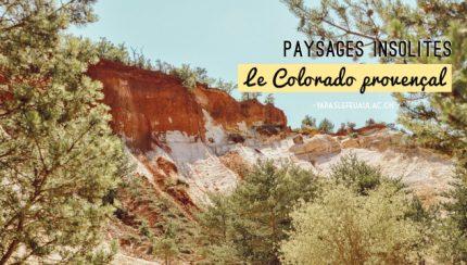 Le Colorado provençal à Rustrel. Crédit photo: Yapaslefeuaulac.ch