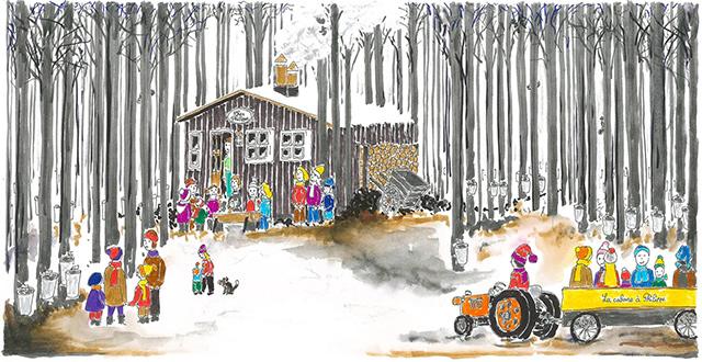 La cabane à sucre, un dessin de Philippe Trolliet