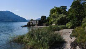 Jardin botanique sur une ile au Tessin