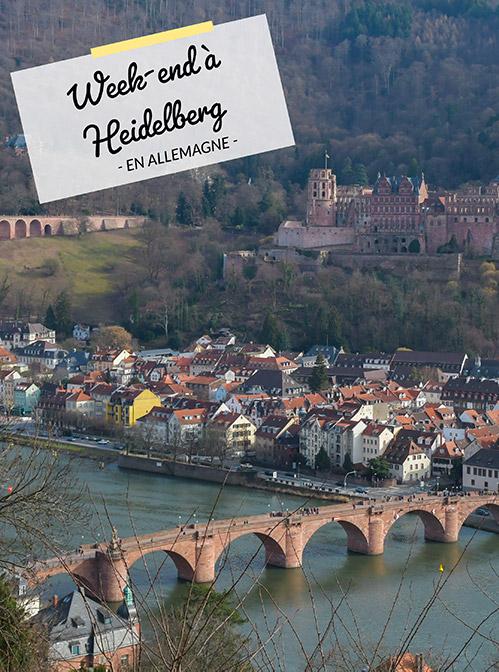 Que voir à Heidelberg en un week-end? Des idées sur le blog Yapaslefeuaulac!
