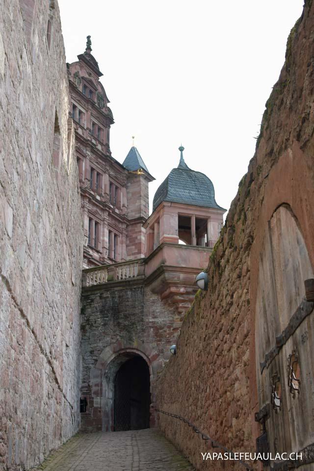 Visiter Heidelberg: le château d'Heidelberg, si romantique avec sa façade en grès rose