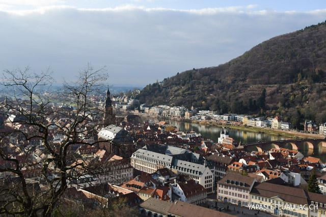 Découverte d'une belle ville en Allemagne: Heidelberg, et son château à demi en ruines