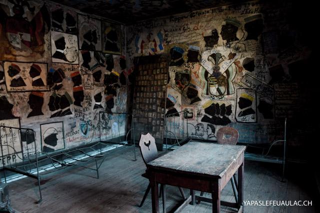 La prison des étudiants d'Heidelberg et ses graffitis