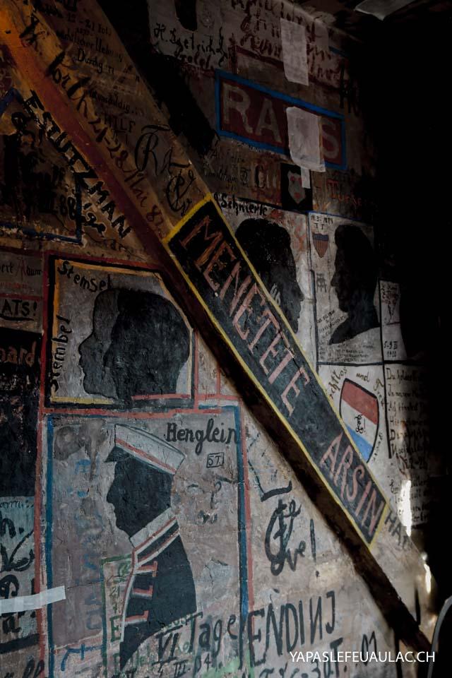 La prison des étudiants d'Heidelberg et ses graffitis (Studentenkarzer)