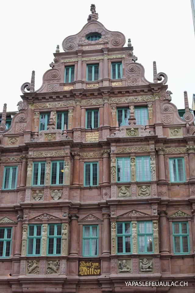 Haus zum Ritter - Que voir au centre ville d'Heidelberg