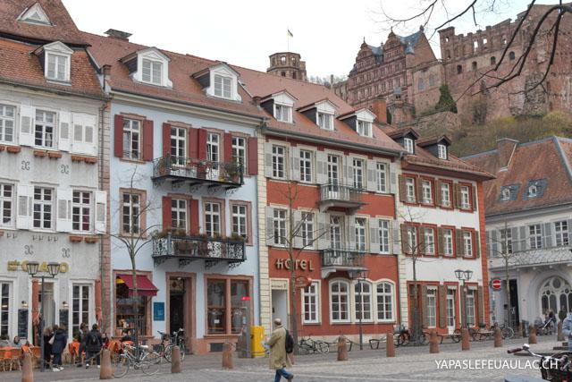 Le centre historique d'Heidelberg, une jolie ville à visiter absolument en Allemagne