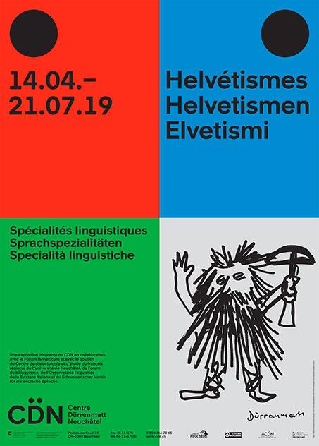 Affiche expo Helvétismes à Neuchâtel