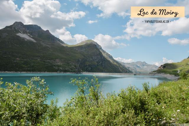 Voir le lac de Moiry - Visiter le Val d'Anniviers en Valais - Idées pour un week-end autour de Vercorin sur le blog de voyage suisse Yapaslefeuaulac.ch