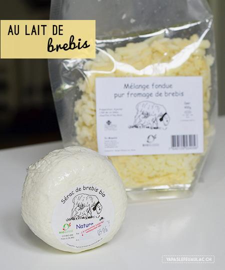 Fromages suisses au lait de brebis - Le Sapalet