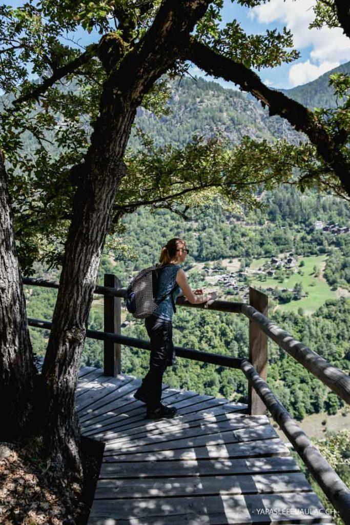 Le Bisse des Sarrasins est un itinéraire sportif de 4 heures en Valais, menant le long du tracé supposé d'un ancien bisse.