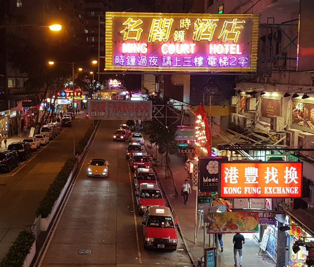 "Wanchai_by_night. C'est le quartier ""chaud"" de Hong Kong"